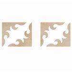 Kaisercraft - Flourishes - Die Cut Wood Pieces - Antique Corners
