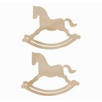 Kaisercraft - Flourishes - Die Cut Wood Pieces - Rocking Horse