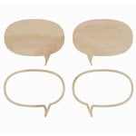 Kaisercraft - Flourishes - Die Cut Wood Pieces - Speech Bubbles