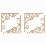 Kaisercraft - Flourishes - Die Cut Wood Pieces - Fancy Corners
