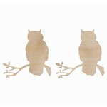 Kaisercraft - Flourishes - Die Cut Wood Pieces - Owls