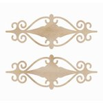 Kaisercraft - Flourishes - Die Cut Wood Pieces - Fancy Mini Plaque