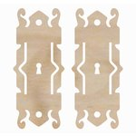Kaisercraft - Flourishes - Die Cut Wood Pieces - Decorative Locks