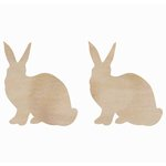 Kaisercraft - Flourishes - Die Cut Wood Pieces - Rabbits