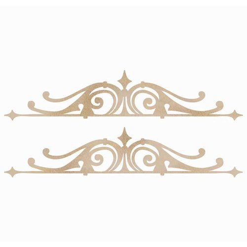Kaisercraft - Flourishes - Die Cut Wood Pieces - Ornamental Borders