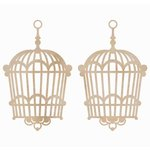 Kaisercraft - Flourishes - Die Cut Wood Pieces - Hanging Birdcage