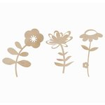 Kaisercraft - Flourishes - Die Cut Wood Pieces - Flowers