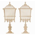 Kaisercraft - Flourishes - Die Cut Wood Pieces - Birdcage Standing