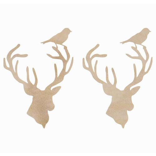 Kaisercraft - Flourishes - Die Cut Wood Pieces - Deer Heads