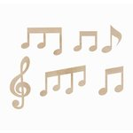 Kaisercraft - Flourishes - Die Cut Wood Pieces - Music Notes