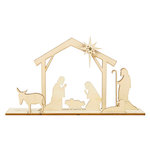 Kaisercraft - Christmas - Flourishes - Die Cut Wood Pieces - Nativity Scene