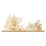 Kaisercraft - Christmas - Flourishes - Die Cut Wood Pieces - Sleigh Scene