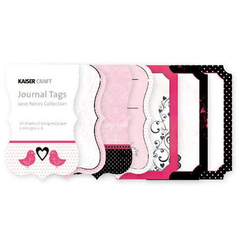 Kaisercraft - Love Notes Collection - Valentine - Journal Tags