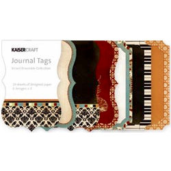 Kaisercraft - Velvet Ensemble Collection - Journal Tags
