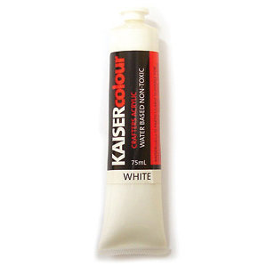 Kaisercraft - Kaisercolour - Crafters Acrylic Paint - White
