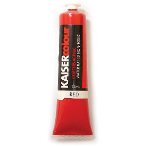 Kaisercraft - Kaisercolour - Crafters Acrylic Paint - Red