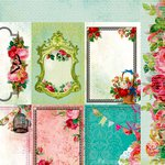 Kaisercraft - Secret Admirer Collection - 12 x 12 Double Sided Paper - Cherished