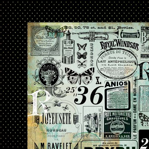 Kaisercraft - 75 Cents Collection - 12 x 12 Double Sided Paper - Dime