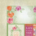 Kaisercraft - Flora Delight Collection - 12 x 12 Double Sided Paper - Happiness