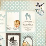 Kaisercraft - Bundle of Joy Collection - 12 x 12 Double Sided Paper - Cradle