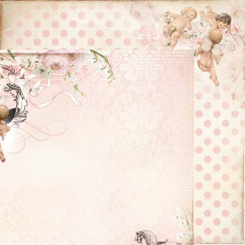 Kaisercraft - Bundle of Joy Collection - 12 x 12 Double Sided Paper - Rattle