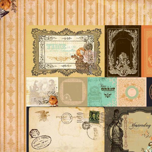 Kaisercraft - Miss Empire Collection - 12 x 12 Double Sided Paper - Provincial