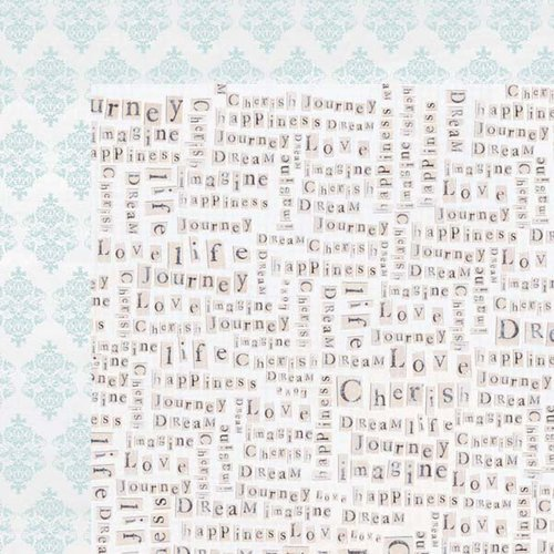 Kaisercraft - True Romance Collection - 12 x 12 Double Sided Paper - First Sight