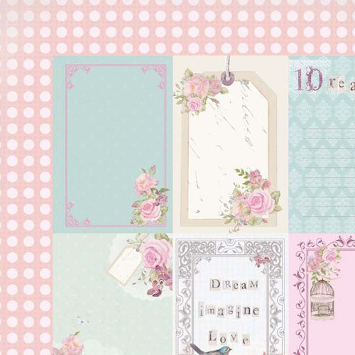 Kaisercraft - True Romance Collection - 12 x 12 Double Sided Paper - Passionate