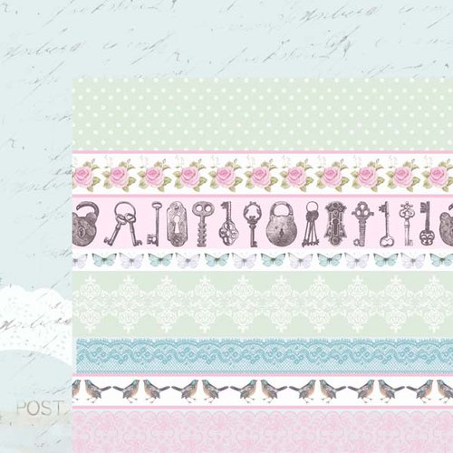 Kaisercraft - True Romance Collection - 12 x 12 Double Sided Paper - Affection