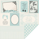 Kaisercraft - Pitter Patter Collection - 12 x 12 Double Sided Paper - Little Feet