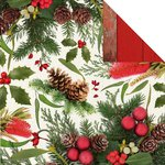 Kaisercraft - Basecoat Christmas Collection - 12 x 12 Double Sided Paper - Flora