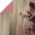 Kaisercraft - Basecoat Christmas Collection - 12 x 12 Double Sided Paper - Berry