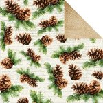 Kaisercraft - Basecoat Christmas Collection - 12 x 12 Double Sided Paper - Pine