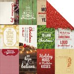Kaisercraft - Basecoat Christmas Collection - 12 x 12 Double Sided Paper - Glitter
