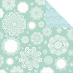 Kaisercraft - North Pole Collection - Christmas - 12 x 12 Double Sided Paper - Snowflakes