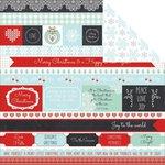 Kaisercraft - North Pole Collection - Christmas - 12 x 12 Double Sided Paper - Toboggan