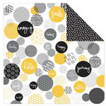 Kaisercraft - Shine Bright Collection - 12 x 12 Double Sided Paper - Sunbeam