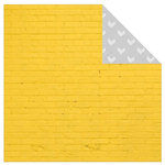 Kaisercraft - Shine Bright Collection - 12 x 12 Double Sided Paper - Bumblebee