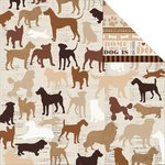 Kaisercraft - Furry Friends Collection - 12 x 12 Double Sided Paper - Companion