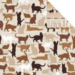 Kaisercraft - Furry Friends Collection - 12 x 12 Double Sided Paper - Paw-fect