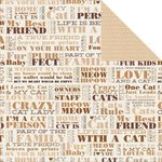 Kaisercraft - Furry Friends Collection - 12 x 12 Double Sided Paper - Loyal
