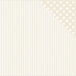 Kaisercraft - Back to Basics Collection - 12 x 12 Double Sided Paper - Beige Stripe
