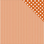 Kaisercraft - Back to Basics Collection - 12 x 12 Double Sided Paper - Orange Stripe