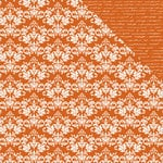 Kaisercraft - Back to Basics Collection - 12 x 12 Double Sided Paper - Orange Damask