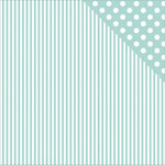 Kaisercraft - Back to Basics Collection - 12 x 12 Double Sided Paper - Seabreeze Stripe