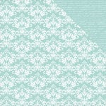 Kaisercraft - Back to Basics Collection - 12 x 12 Double Sided Paper - Seabreeze Damask