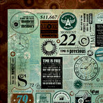 Kaisercraft - Time Machine Collection - 12 x 12 Double Sided Paper - Scriptorian