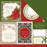 Kaisercraft - Home for Christmas Collection - 12 x 12 Double Sided Paper - Warm Wishes