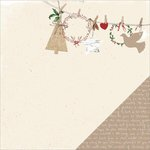 Kaisercraft - Home for Christmas Collection - 12 x 12 Double Sided Paper - Laurel