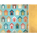 Kaisercraft - Seaside Collection - 12 x 12 Double Sided Paper - Beach Hut